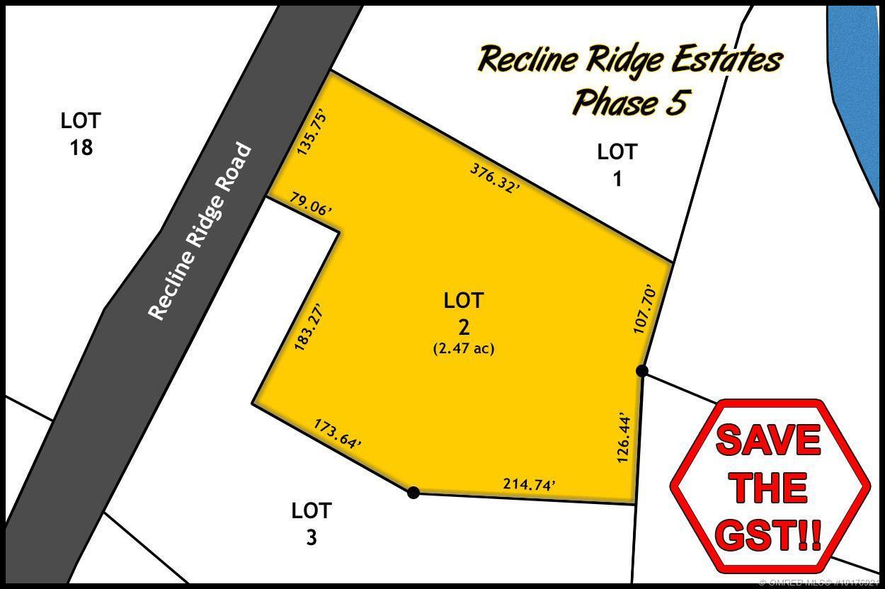 Lot 2 Recline Ridge Road, Tappen, British Columbia, V0E2X3 (20391749)
