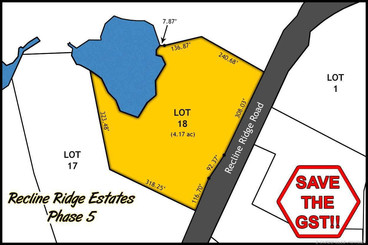 Lot 18 Recline Ridge Road, Tappen, British Columbia, V0E2X3
