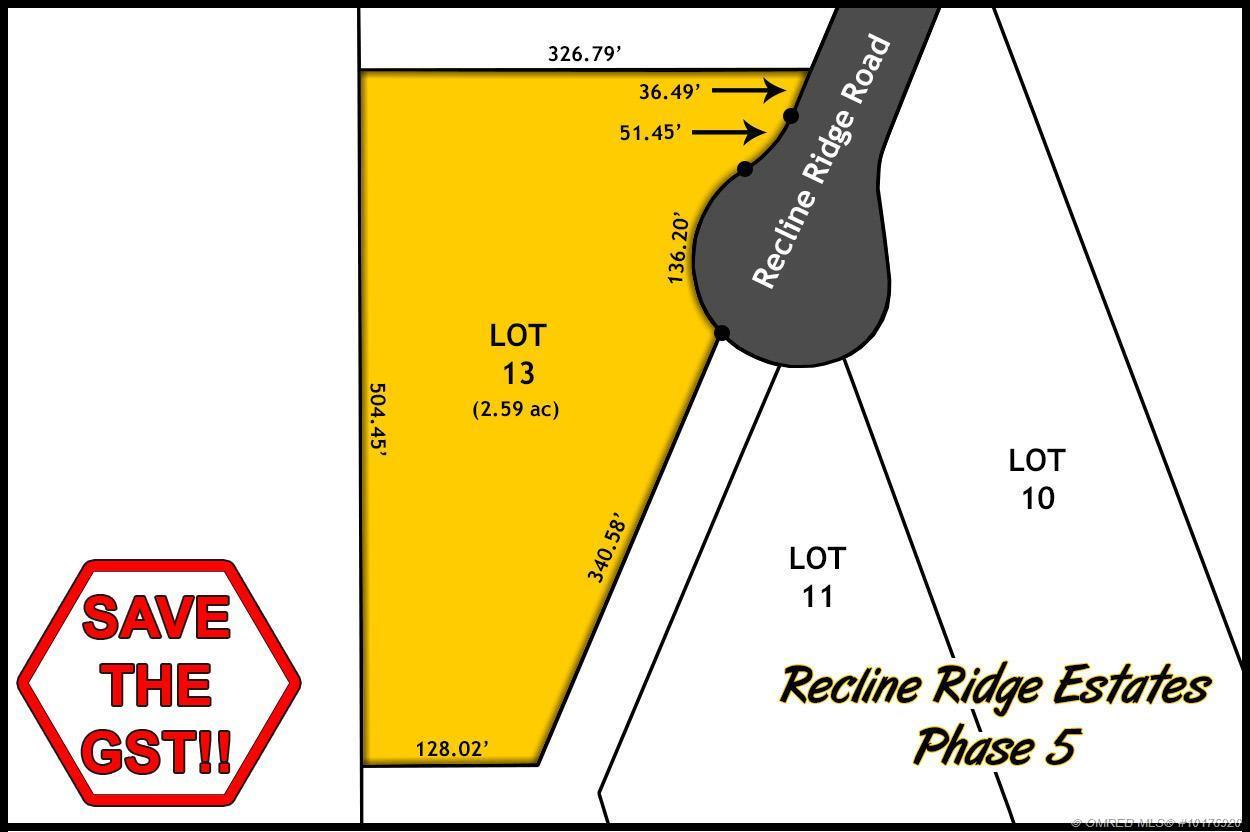 Lot 13 Recline Ridge Road, Tappen, British Columbia, V0E2X3 (20393141)