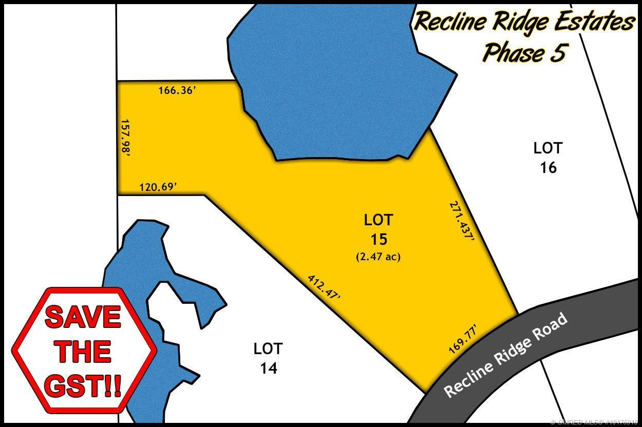 Lot 15 Recline Ridge Road, Tappen, British Columbia, V0E2X3 (20393144)